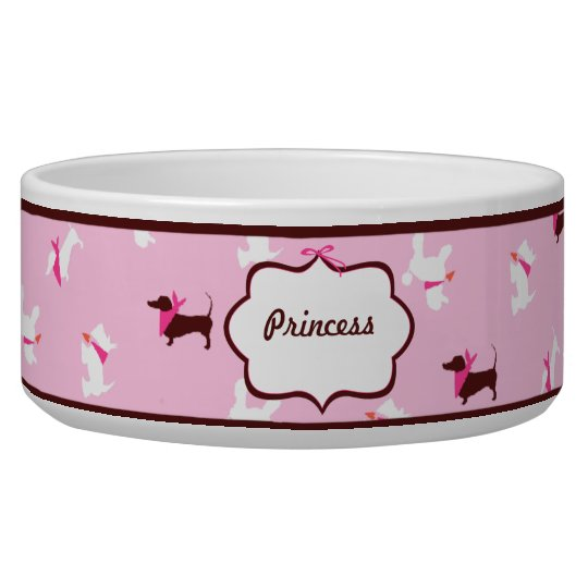 Pooches in Pink Boutique Personalised Dog Bowls