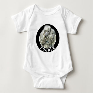 Poodle 002 baby bodysuit