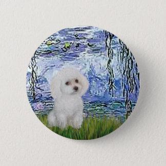 Poodle (11W) - Lilies 6 6 Cm Round Badge