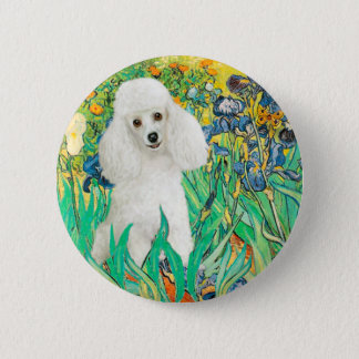 Poodle (14W) - Irises 6 Cm Round Badge