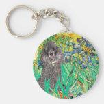 Poodle (8S) - Irises Key Chains