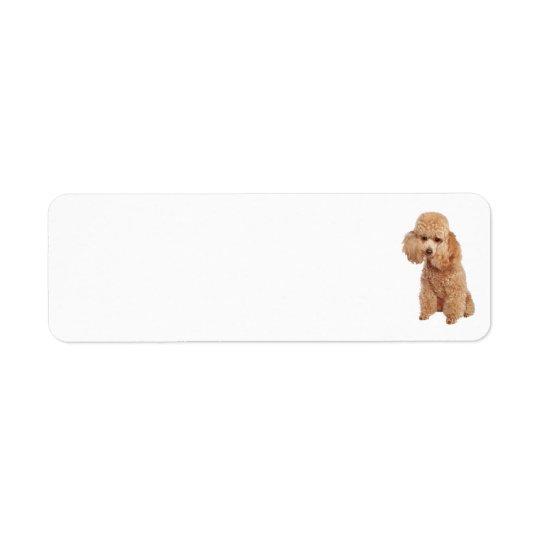 Poodle Address Label