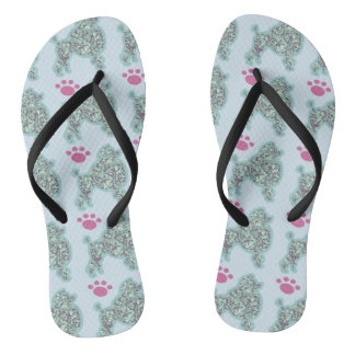 Poodle And Paw Flip Flops