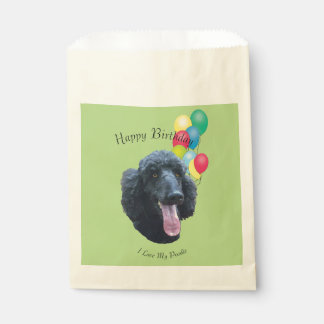 Poodle and Yellow Roses Favour Bags
