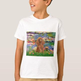 Poodle (Apricot 10) - Lilies 2 T-Shirt
