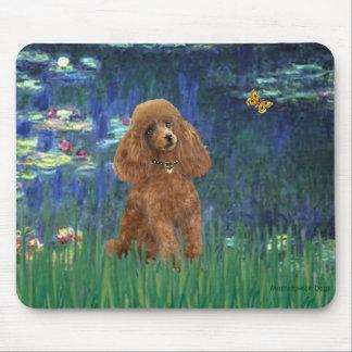 Poodle (Apricot 10) - Lilies 5 Mouse Pad