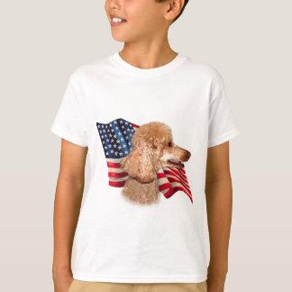 Poodle (apricot) Flag T-Shirt