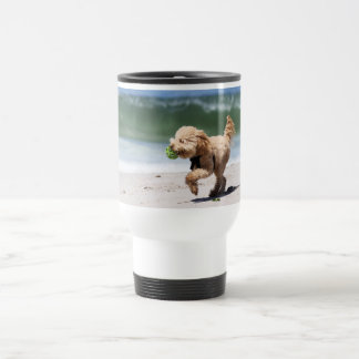Poodle - Apricot - Poodle Play Travel Mug