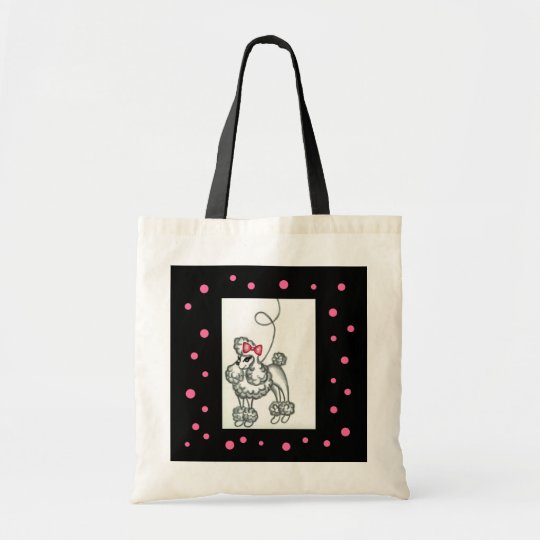 Poodle Bag Pink Black Retro Fifties