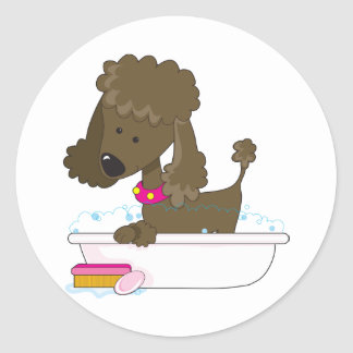 Poodle Bath Stickers