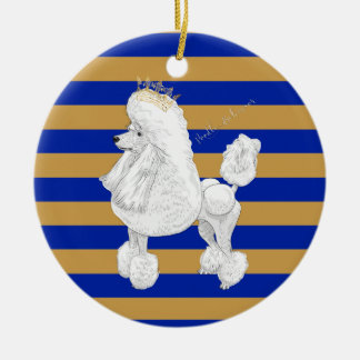 Poodle Behavior Christmas Personalized Ornament