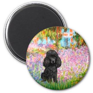 Poodle black 1 - Garden Magnet