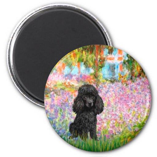 Poodle (black 1) - Garden Magnet