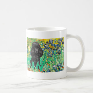 Poodle (black 1) - Irises Coffee Mug