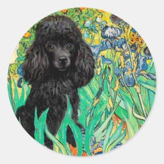 Poodle (black 1) - Irises Sticker
