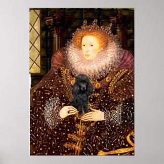 Poodle (black 1) - Queen Poster