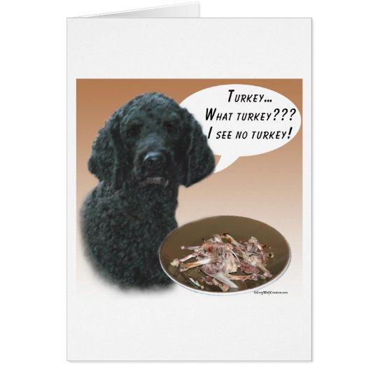 Poodle (black) Turkey Card