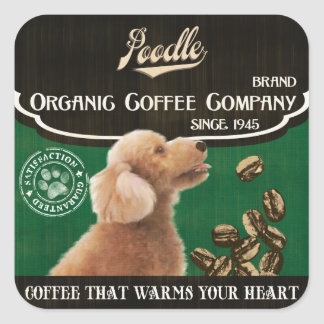 Poodle Brand – Organic Coffee Company Square Sticker