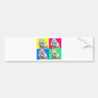 Poodle Bright Collage 2 Bumper Sticker