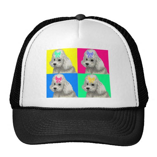Poodle Bright Collage 2 Hat