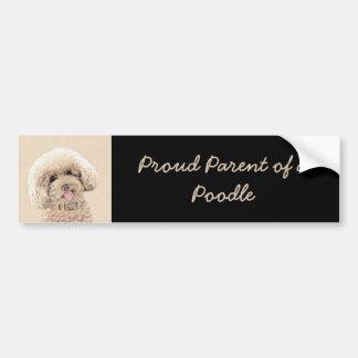 Poodle Bumper Sticker