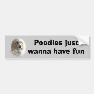 Poodle Bumper Sticker Car Bumper Sticker