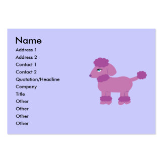 Poodle Business Cards Chubby Business Cards