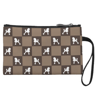 Poodle Chequered Purse (Continental Cut)