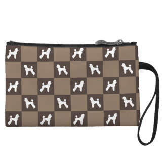 Poodle Chequered Purse (Puppy Cut)