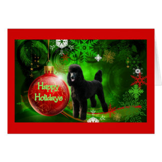 Poodle  Christmas Card Happy Holidays Ball