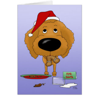 Poodle Christmas Greeting Cards