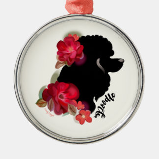 Poodle Christmas Ornament   Holidays   floral