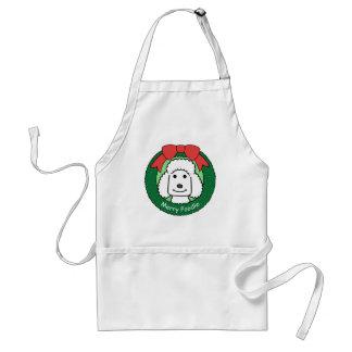 Poodle Christmas Standard Apron