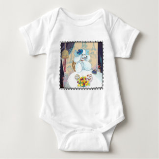 Poodle cupcake Tea Party Baby Baby Bodysuit