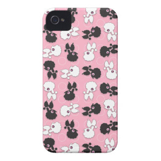 Poodle Cuties on Pink Barely There ID iPhone4 Case-Mate iPhone 4 Cases