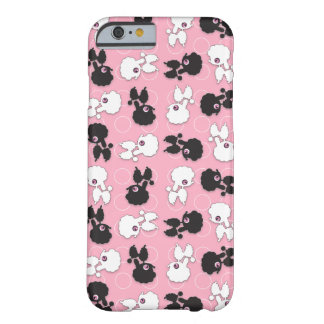 Poodle Cuties on Pink - Barely There iPhone 6 Case