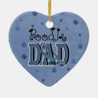 Poodle DAD Christmas Ornament
