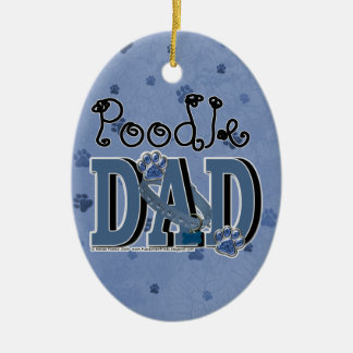 Poodle DAD Ornaments