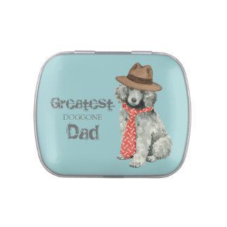 Poodle Dad Jelly Belly Tin