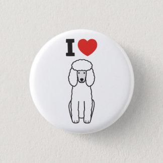 Poodle Dog Cartoon 3 Cm Round Badge