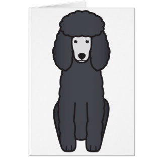 Poodle Dog Cartoon Card