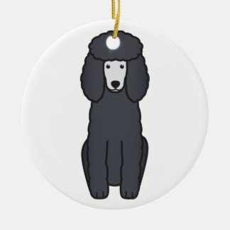 Poodle Dog Cartoon Christmas Ornament