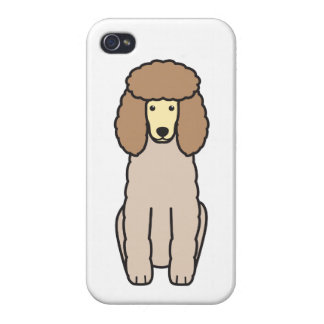 Poodle Dog Cartoon iPhone 4/4S Cover