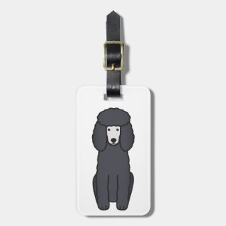 Poodle Dog Cartoon Luggage Tag