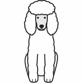 Poodle Dog Cartoon Standing Photo Sculpture