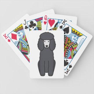 Poodle Dog Cartoon Poker Deck