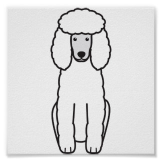Poodle Dog Cartoon Poster