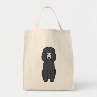 Poodle Dog Cartoon Tote Bag