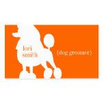 Poodle Dog Groomer Business Card