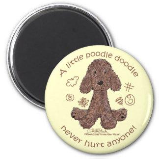 Poodle Doodle Magnet